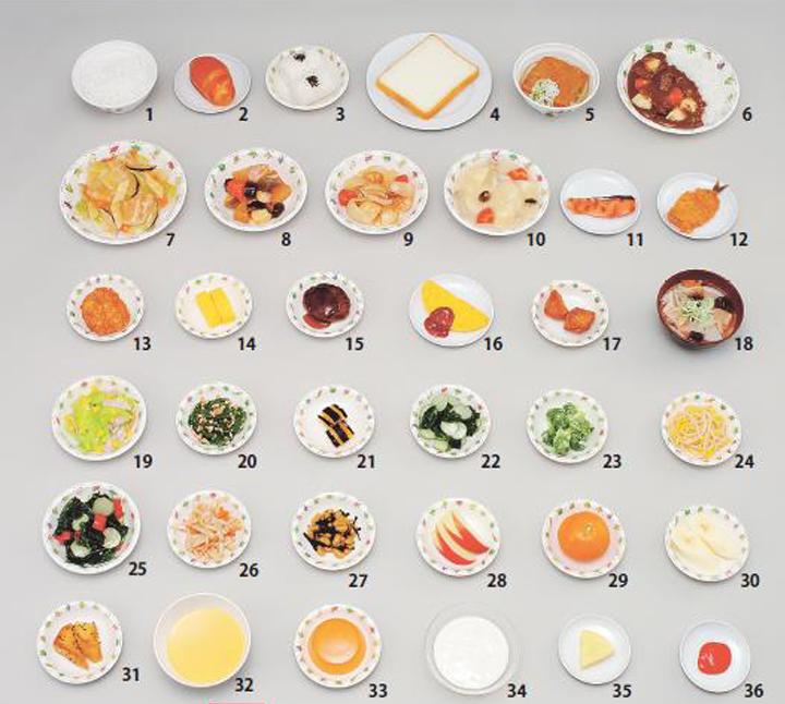 イワイサンプル 学校給食指導用調理モデル/食品サンプル/栄養指導用フードモデル
