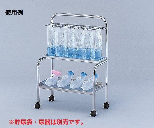 【送料無料/代引不可】貯尿架台(尿器用棚付) 6人用 KNT-6尿器置き兼用貯尿架台ですっきり収納