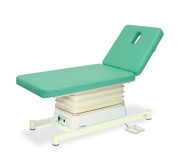 【個人宅配送・代引き不可】高田ベッド 18色のカラーとサイズが選べるマッサージベッド  有孔垂直電動Lタイプ TB-550U  病院/クリニック