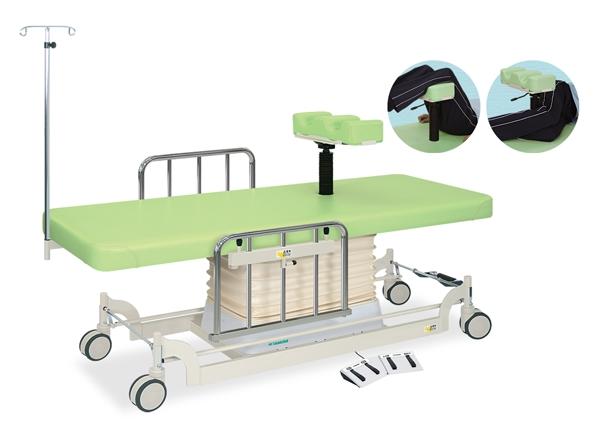 【個人宅配送・代引き不可】高田ベッド 18色のカラーとサイズが選べるマッサージベッド  垂直電動MFWタイプ TB-1283  病院/クリニック
