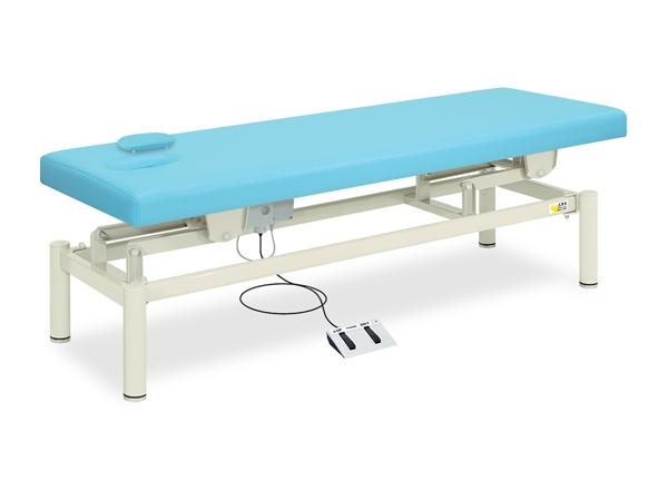 【送料無料/代引き不可】高田ベッド 18色のカラーとサイズが選べるマッサージベッド  有孔フタ付き電動ハイロー TB-154  病院/クリニック