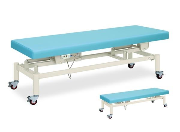 【送料無料/代引き不可】高田ベッド 18色のカラーとサイズが選べるマッサージベッド  キャスター付電動ハイローベッド TB-582  病院/クリニック