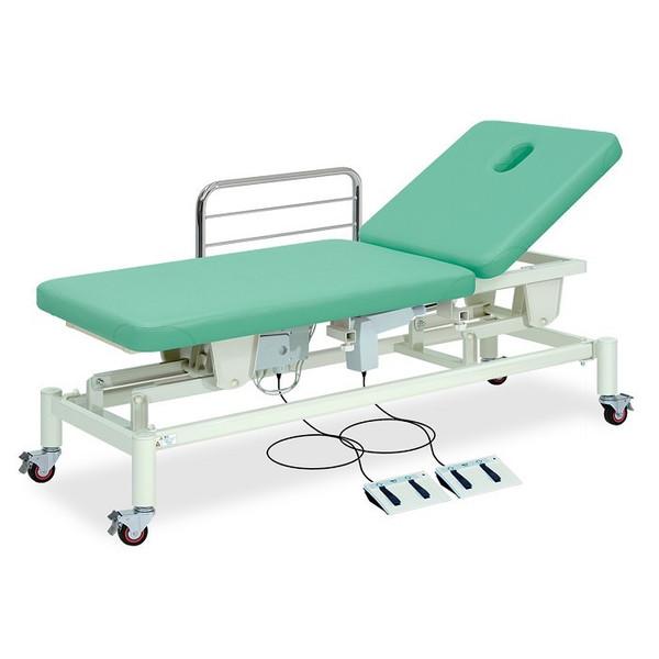 【送料無料/代引き不可】高田ベッド 18色のカラーとサイズが選べるマッサージベッド  有孔F型キャスター付2M電動ベッド TB-1012U  病院/クリニック