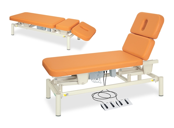 【送料無料/代引き不可】高田ベッド 18色のカラーとサイズが選べるマッサージベッド  2Mあかり電動 TB-1201  病院/クリニック
