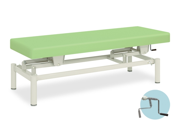 【法人限定販売】高田ベッド 18色のカラーとサイズが選べるマッサージベッド  手動式ハイローベッド  TB-913  病院/クリニック【代引不可】