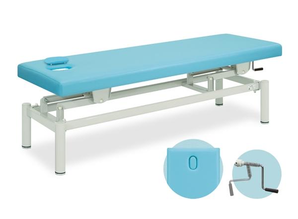 【送料無料/代引き不可】高田ベッド 18色のカラーとサイズが選べるマッサージベッド  有孔フタ付手動ハイロー  TB-171  病院/クリニック