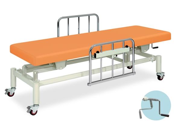 【送料無料/代引き不可】高田ベッド 18色のカラーとサイズが選べるマッサージベッド  移動式手動ハイロー  TB-160  病院/クリニック