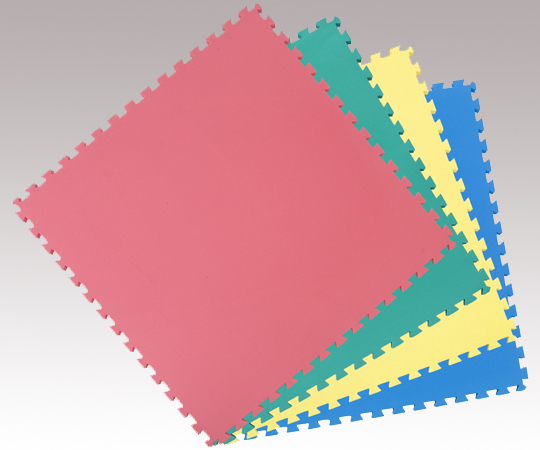 【代引不可】カラーユニットマット 4色セット 青・赤・黄・緑 幅1000×長さ1000×厚み15mm