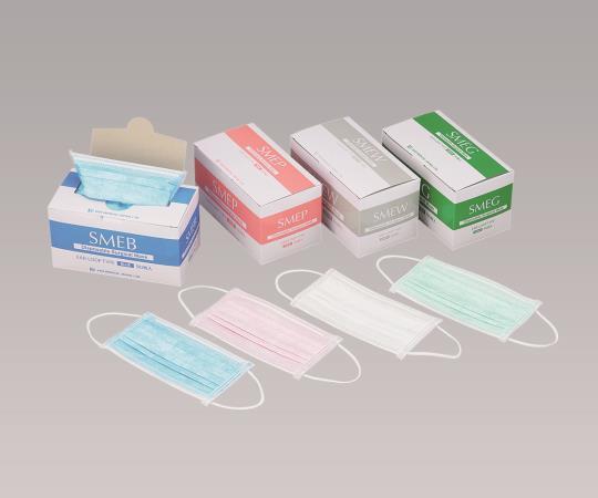 サージカルマスク ブルー/ピンク/ホワイト/グリーン 1ケース(40箱入)SMEB/SMEP/SMEW/SMEG