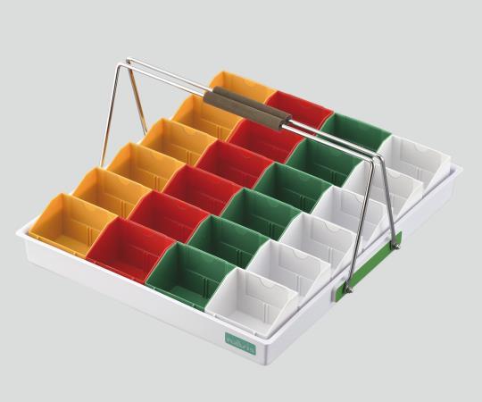 散薬用トレー N-24RC(24人用) 緑・白・赤・黄