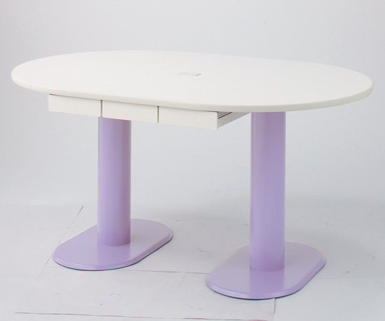 ナーステーブル(2本脚)足元の空間をすっきりと M-1812H 1800×1200×900mm