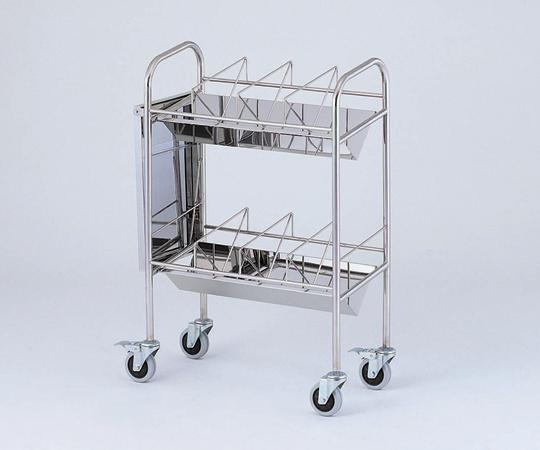 カルテワゴン(平板タイプ)30F-S 30冊収納 540×328×1010mm 19kg 【代引き不可】