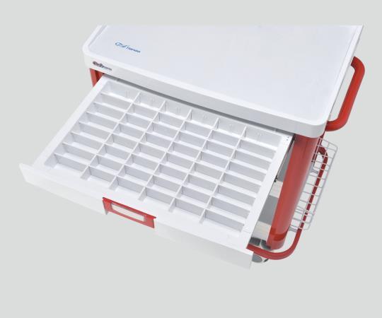 IVカート(点滴処置車) YC-32-S-00032 レッド/ブルー 820×595×1615mm