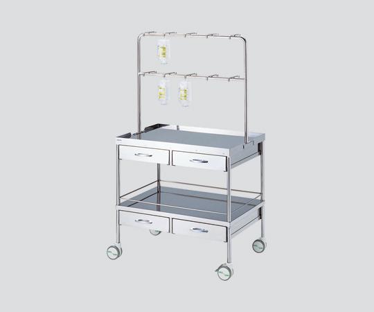 点滴万能処置車 A型 900×600×837・1587mm 点滴用として、処置台としても利用可能