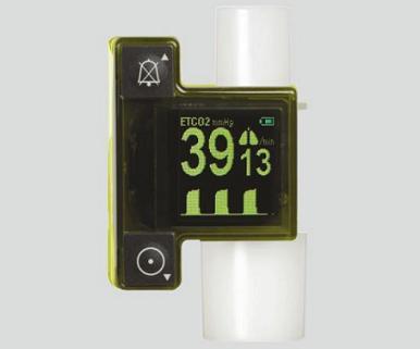 呼気終末二酸化炭素ガス分圧測定器 (救急用カプノメータ) EMMA(ケース付) 52×39×39mm 60g