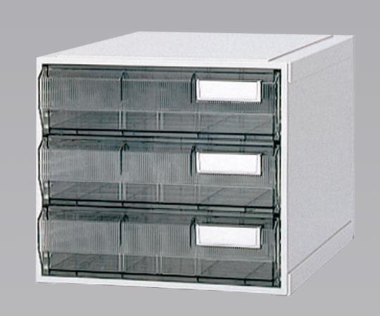 ホスピタルカセッター(A3判) HA3-003 クリアー(透明) 浅型から深型までの引出しが4タイプ