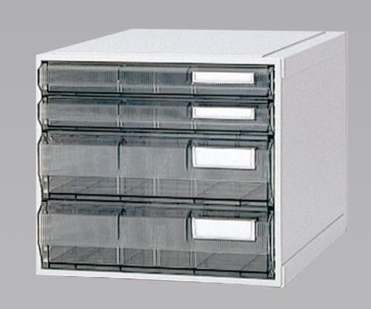 ホスピタルカセッター(A3判) HA3-007 クリアー(透明) 浅型から深型までの引出しが4タイプ
