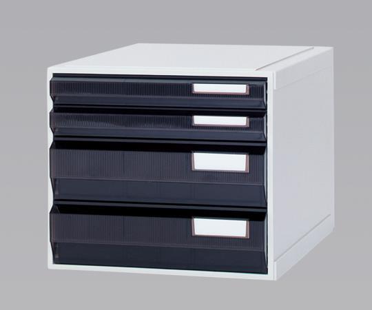 ホスピタルカセッター(A3判) HA3-007 アンバー(遮光) 浅型から深型までの引出しが4タイプ