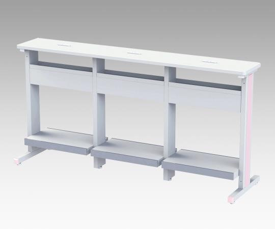 ナースステーション(ナーステーブル) RNS-1800 1800×512×900mm 44.5kg 狭いスペースでスマートに、電子カルテワゴンをすっきり整列!
