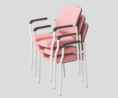 【座面が患部に触れない構造を追求しました】産婦人科用チェア SKB-C1 幅590×奥行540×高さ820mm 肘掛け有り