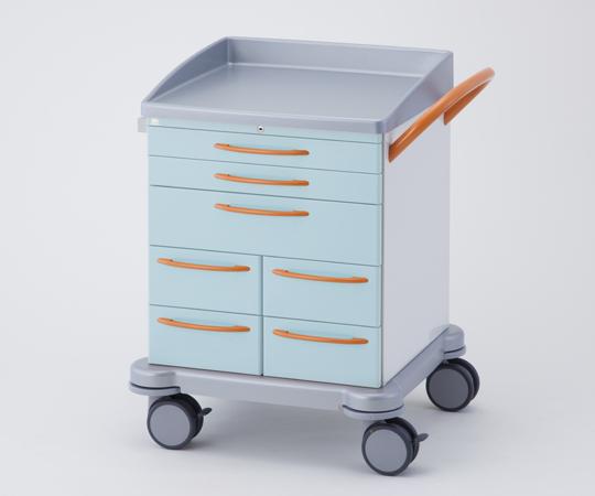 シュミッツアルミ回診車 豊富なオプションがあり、様々な用途に対応できる多機能タイプ 260.035 グリーン/ブルー/ベージュ 810×665×930mm