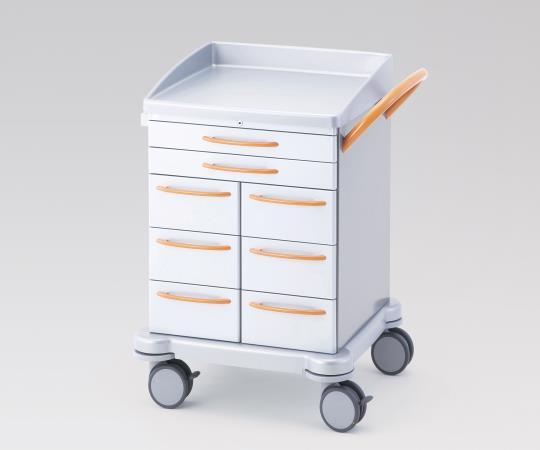 シュミッツアルミ回診車 豊富なオプションがあり、様々な用途に対応できる多機能タイプ 260.035A グレー/オレンジ 810×665×930mm