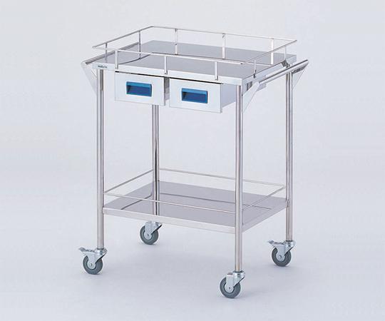 ストレージステンレスカート CHS-2H 600×450×835mm 14kg 引出し付きで小物の収納に便利です 【代引き不可】