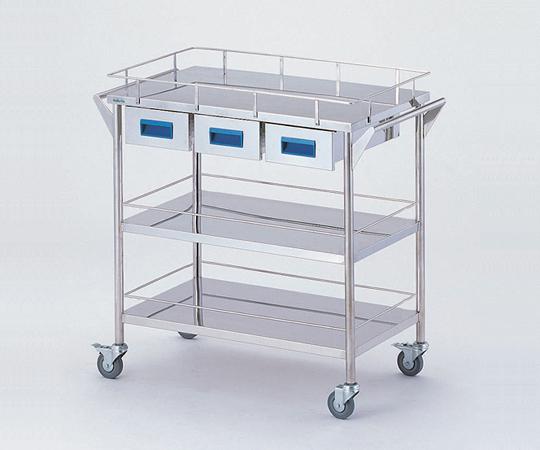 ストレージステンレスカート CHW-3H 750×450×835mm 22kg 引出し付きで小物の収納に便利です 【代引き不可】