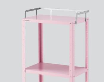 カラフルステンワゴン CSWR-3P レギュラー 453×302×897(手摺含む) 3段 ピンク 【代引き不可】