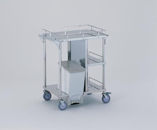 処置車 足踏式ペールを内部に装備 KSC-PF 引出し無し/ペール前向き 600×450×855mm