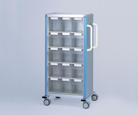 与薬車(大型内用袋・点滴ボトル用) ST-30 ブルー/ピンク 幅×奥行×高さ(mm):787×500×1438 重量(kg):56 ボックス数:30個
