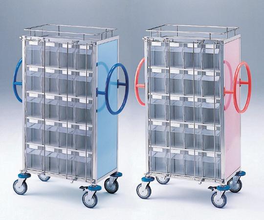 与薬車(大型内用袋用) NCS-40 ピンク/ブルー 幅×奥行×高さ:655×400×1290