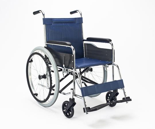 車いす(スチール製) EX-10B 自走式車イス ビニールレザー素材 660×995×875mm 【代引き不可】