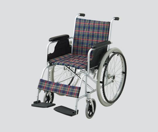 NAVIS(ナビス) 車椅子 (アルミ製)自走式 NWC-100A 630×1020×880mm 12kg お求めやすい、ノーパンク仕様のスタンダードタイプ