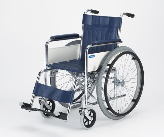 車椅子 (スチール製) AND-1-BSG 自走式 エアータイヤ ボンベ架・伸縮式ガードル棒付き
