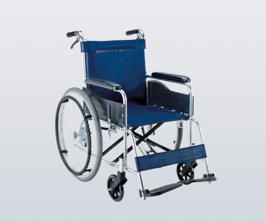 車椅子 (アルミ製) EW-20B 自走式 ビニールレザー(紺) 660×995×875mm