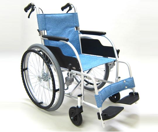 車椅子 (アルミ製・背折れタイプ) ECO-201B 自走式 665×950×885mm