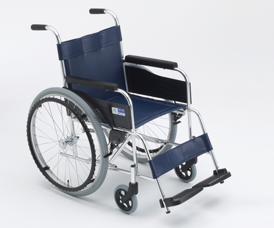 車椅子 (アルミ製) MPN-43G(点滴棒付) 自走式 630×980×860mm