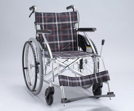 車椅子(アルミ製・背折れタイプ) NKV22-40SB 自走式 650×1000×855mm 12.7kg