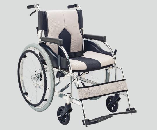 車椅子 (アルミ製・背折れタイプ) KC-1LG 自走式 ライトグレー 660×985×885mm