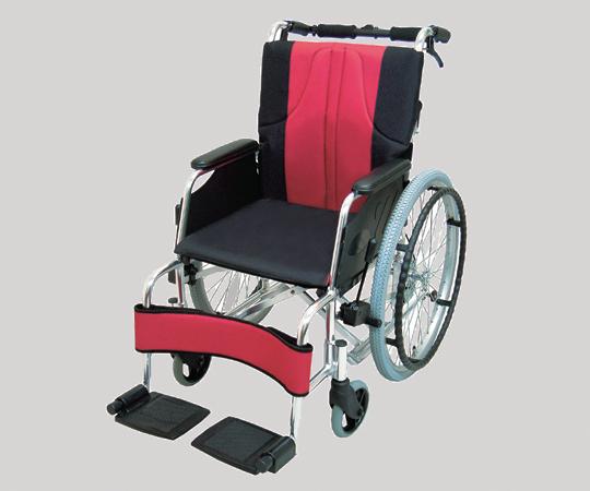 車椅子(アルミ製) 0101-LA2000 自走式 ポリエステル 赤黒