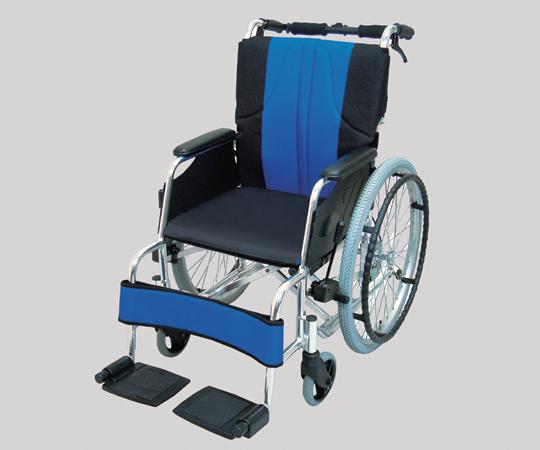 車椅子(アルミ製) 0101-LA2001 自走式 ポリエステル 青黒