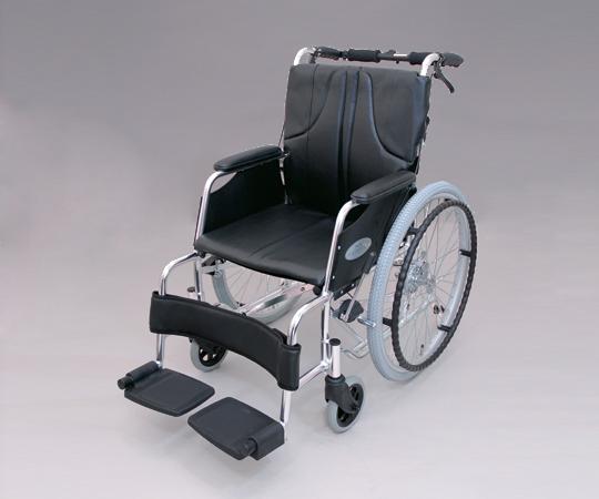 車椅子(アルミ製) 0101-LA2006 自走式 レザービニール 黒