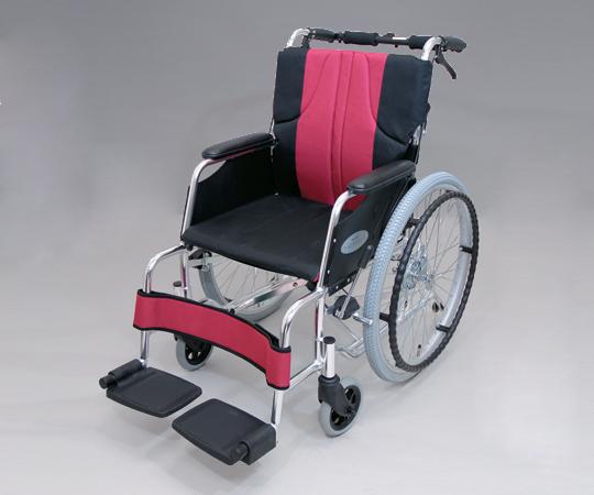 車椅子(アルミ製) 0101-LA2008 自走式 ナイロン ワインレッド
