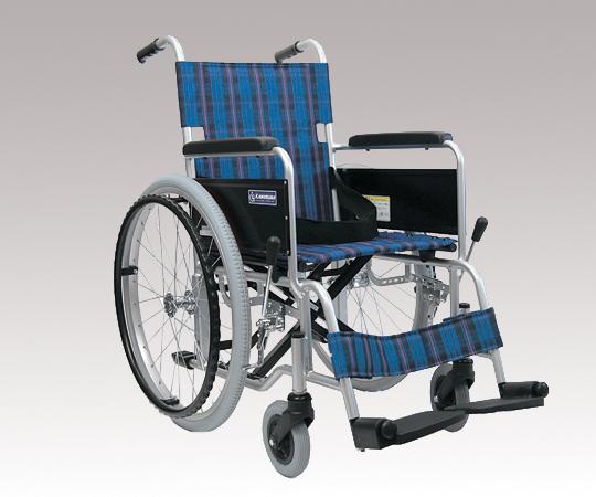 車椅子 (アルミ製) KA102ソフトタイヤ-42A3A 自走式 610×1000×860mm