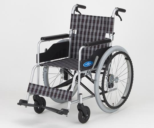 車椅子 (アルミ製・背折れタイプ) NC-1CB(ハイポリマータイヤ)自走式 640×990×880/430mm