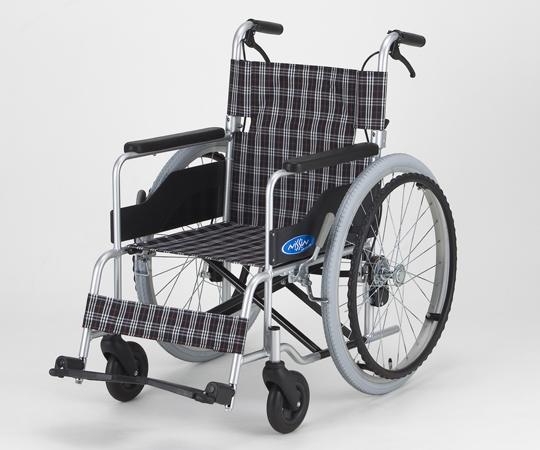 車椅子 (アルミ製・背折れタイプ) NC-1CB(低床・エアータイヤ) 自走式 640×990×850/380mm