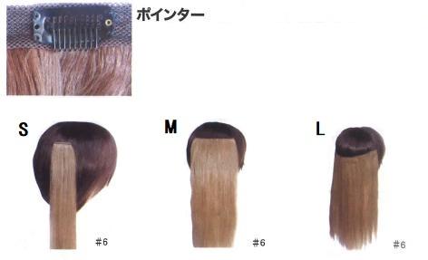 ポインター 毛長50cm L (#1暗自然色/#2自然色/#4明るい栗色/#5黄色系栗色/#6金髪)