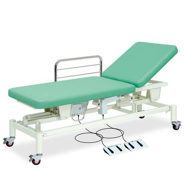 【送料無料/代引き不可】高田ベッド 18色のカラーとサイズが選べるマッサージベッド  F型キャスター付2M電動ベッド TB-1012  病院/クリニック