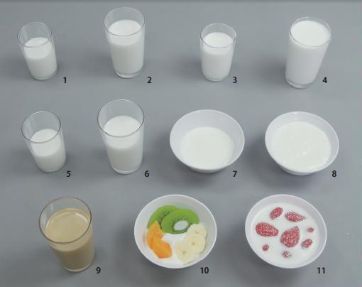 イワイサンプル 糖尿病関連 「乳製品グループ」1式セット/食品サンプル/栄養指導用フードモデル